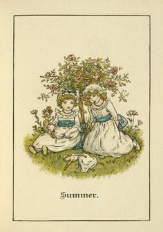 Summer - Kate Greenaway's Almanack for 1892 . with dolls