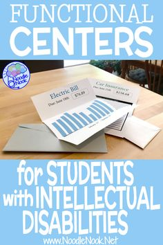 15 Functional Center Ideas for Students with Intellectual Disabilities or Autism in Middle and High School… Great SpEd Podcast and Life Skills Lessons, Life Skills Activities, Teaching Life Skills, Skills List, Special Education Activities, High School Activities, Special Education Classroom, Physical Education, Education High Schools