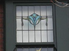 Art Nouveau Stained Glass Stairwell Window Detail of a Large Arts and Crafts Villa - Prahran by raaen99, via Flickr