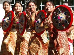 The traditional Assamese Bihu styled dance for the festival of Nyada..