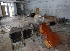 Spookachtig mooie beelden van desolate gebouwen: Alle inwoners moesten de stad Prypiat in 1986 verlaten toen de nabijgelegen kerncentrale in Tsjernobyl ontplofte.© Reuters