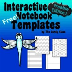 Interactive notebook templates freebieWant to try out some of my new design templates and see how they print?Here is my new set here.These temples are simple to use, so no directions are included with this set (I normally include directions). Simply cut on the solid lines and fold on the dotted lines.