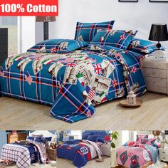 Find More Bedding Sets Information about [Flower gift] England 100% cotton bed linen king size bedding quilt cover 4pcs duvet cover cotton bed sheet set british bed set,High Quality Bedding Sets from Dreamy home on Aliexpress.com
