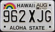 Hawaii Hibiscus Tree, Car Tags, North Dakota, New Hampshire, Rhode Island, West Virginia, New Mexico, Nebraska, Wyoming