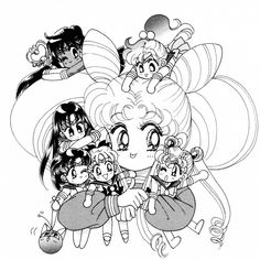Bishoujo Senshi Sailor Moon: R Soldiers Sailor Chibi Moon, Sailor Saturn, Sailor Moon Crystal, Sailor Scouts, Sailor Moon Coloring Pages, Famous Artwork, Princesas Disney, Magical Girl, Anime Love