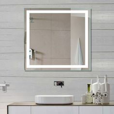 Dimmable Lighted Mirror Harmony 32 X 32. Modern Bathroom ...