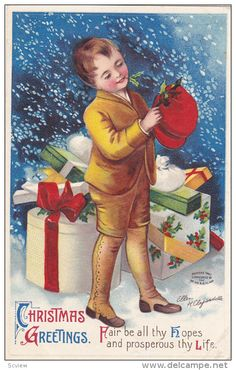 Christmas Boy , Signed Clapsaddle , 00-10s - Delcampe.com