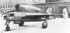 Henschel's Hs 132 was a World War II dive bomber and interceptor aircraft of the German Luftwaffe that never saw service. The unorthodox design featured a top-mounted BMW 003 jet engine (identical in terms of make and position to the powerplant used by the Heinkel He 162) and the pilot in a prone position.