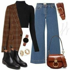 Casual Fall Outfits, Teen Fashion Outfits, Retro Outfits, Fall Winter Outfits, Look Fashion, Trendy Outfits, Korean Fashion, Fashion Clothes, Winter Fashion