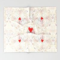 Throw Blanket featuring Love notes by anipani