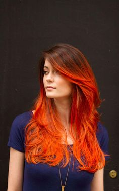 red ombre hair #9
