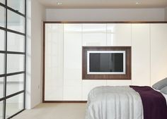 Fitted Wardrobes With Built In TV - Hyperion-Furniture