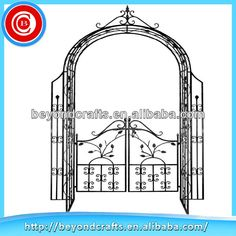 Sellable Metal Garden Arch With Gate   Buy Metal Garden Arch With Gate,Metal  Arch,Garden Arch With Gate Product On Alibaba.com