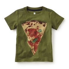 Tea SS16 Naples Pizza-Pie Graphic Tee in arugula | We can all say grazie (which means thank you) to Naples, Italy for inventing the pizza pie! - $22.50