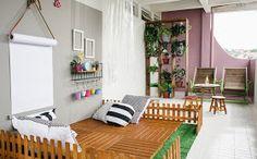 Casa de Colorir: Parede cinza + muito colorido