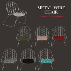 Leo Sims - Metal wire chair for The Sims 4 Sims Four, Sims 4 Mm Cc, My Sims, Die Sims 4 Packs, Sims 4 Cc Furniture, Pink Furniture, Sims 4 House Plans, Muebles Sims 4 Cc, Sims 4 Bedroom