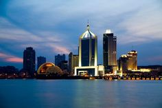 Qingdao in the evening times.