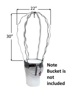 Pail Rider, a trellis for container gardening and hydroponic buckets. This trellis straps on the outside of the container. The ratchet buckle easily tightens to hold the trellis in place. The trellis fits most planters from 10 inches to 16 inches wide. The trellis does not come in contact with soil, ideal for organic gardening. Product includes an internal hook to hang a plant information tag ie day planted, harvest notes, watering notes. Sewn with rot proof thread, made to last for years.