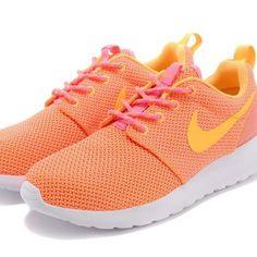 new product 85da0 baba4 Nike Orange Roshe Sneakers With Pink Laces Roshe Sneakers, Nike Roshe Run  Femme, Pink