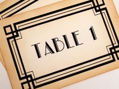 Table Numbers, Set of 10, Wedding, Vintage Style, Art Deco, Old Hollywood Glamour, Great Gatsby, 1920s, 1930s, 1940s, Matching Items by simplyprettypieces on Etsy