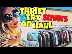 thrifting with me haul try on 2016 - YouTube