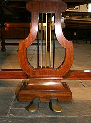 Antique, Bechstein Model E piano lyre
