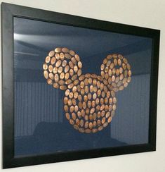 Cool way to present your Disney World pressed pennies.( could do with zoo animal or arrow)