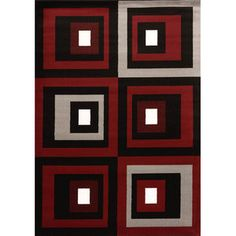 United Weavers of America Cristall Red Studio Rug