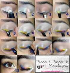 Maquiagem Delineado Arco-íris