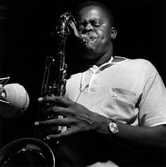 Stanley Turrentine in session at Blue Note records studio - photo by F. Wolff