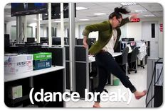 Exiting employee dances into viral fame. We have to admit, she has moves.