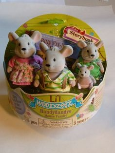 Li'l Woodzeez Handydandys Mouse Family by Battat Inc. $29.47