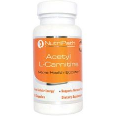 NutriPath Acetyl L-Carnitine Nerve Health Booster Dietary Supplement Capsules, 60 count