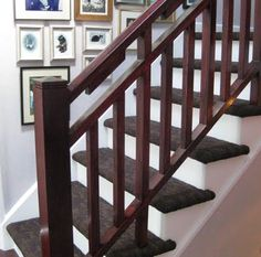 Pictures Of Indoor Oak Stair Railing 4 Steps | Stair Rail Update