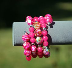 Pretty in Pink for Valantines Day.   https://www.etsy.com/listing/251227320/pink-jade-bracelet-mother-of-pearl