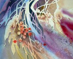 by artist Joe Cibere Watercolor Negative Painting, Watercolor Rose, Japanese Artists, Art Studies, Flower Art, Art Flowers, Drawing, Art Tutorials, Art Forms