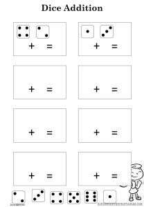 Dice Addition worksheet free printable Addition Worksheets, Number Worksheets, Learn To Read, Dice, Homeschooling, Free Printables, Writing, Reading, Puzzles