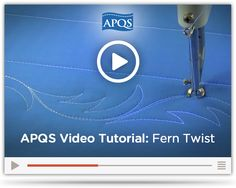 In this video, APQS Dealer and Educator Angela Huffman shares an alternative to feathers - the fern twist. The leaf shapes are much more forgiving and easy to master.