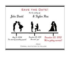 Save the date wedding invitations. Love this idea? See more at www.ItsaBridesLife.com.