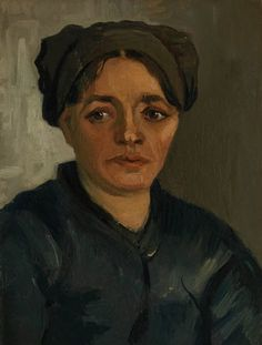 Head of a Peasant Woman, Winter 1884-5. Oil on canvas, 40.3 x 30.5 cm. National Gallery, London.