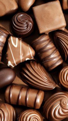 New iPhone Wallpaper Chocolate Dreams, Chocolate Sweets, I Love Chocolate, Delicious Chocolate, Chocolate Lovers, Chocolate Recipes, Waffle Bar, Chocolate Factory, Dessert Recipes