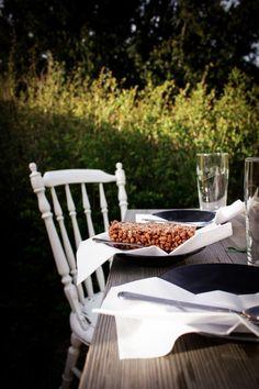 Rice krispie treats, the healtier way. dark, outdoor photography styling, food. ninasbaking -