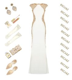 """""""Red Carpet Ready"""" by petalp ❤ liked on Polyvore featuring Jovani, Oscar de la Renta, Jimmy Choo, John Lewis, AERIN, Smith & Cult, Miguel Ases, Oscars and gown"""