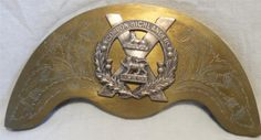 A  VICTORIAN BRASS GORDON HIGHLANDERS  SPORRAN PLATE MADE BY  LECKIE GRAHAM & CO  GLASGOW.AS CAN BE SEEN IN GOOD CONDITION, MEASURES 16CM ACROSS.