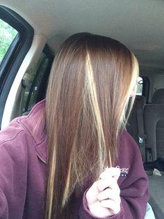Dark brown hair with peekaboo google search hair and such miley cyrus light brown hair with peekaboo blonde pmusecretfo Gallery