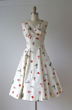 vintage 1950s dress / 50s dress / Molto Bene by Dronning on Etsy