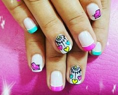 Cute Nail Art, Cute Nails, Pretty Nails, Boxing Day, Magic Nails, Heart Nails, Simple Nail Art Designs, Birthday Nails, Nail Ideas