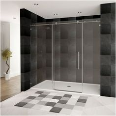Ordered $759 Glass Shower Door Ultra-C 68-72 Wide X 76 High Brushed Nickel Finish