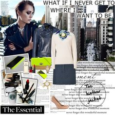 """Wardrobe Essentials: The leather jacket."" by vassiliki-g ❤ liked on Polyvore"