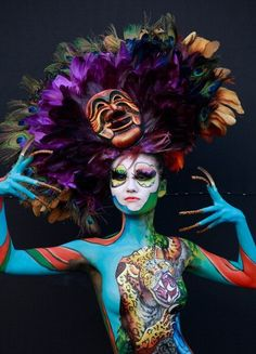 A model participates in a 2012 International Bodypainting Festival Asia at Duryu park on September 1, 2012 in Daegu, South Korea. The festival is the largest event in the field of body painting and sp